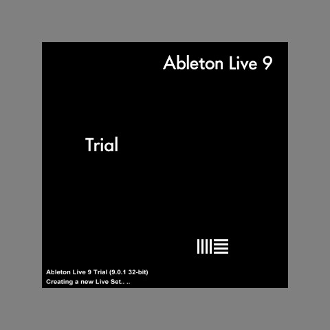 Загрузочный экран Ableton live Trial 9