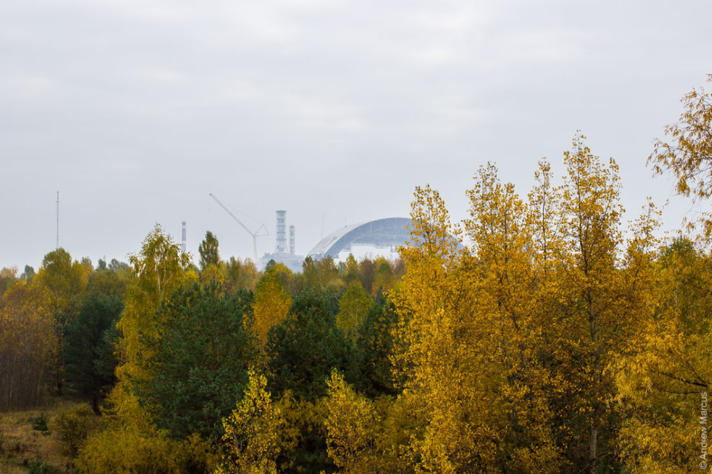 Труба четвертого энергоблока ЧАЭС