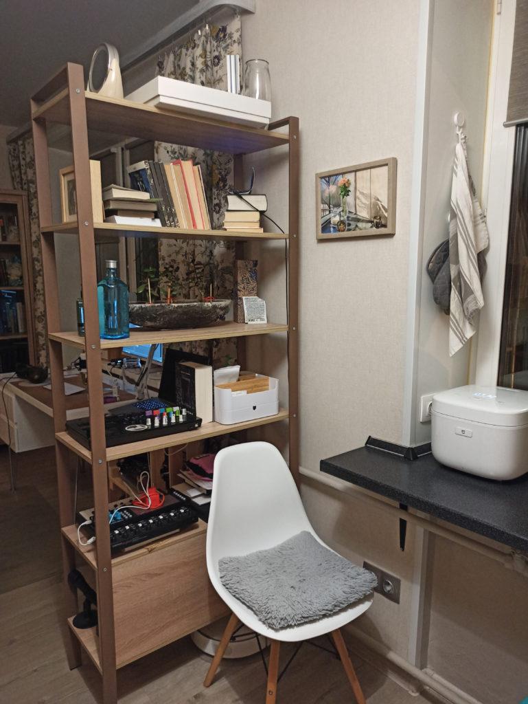 Зонирование помещения в хрущевке студии на маленькой кухне